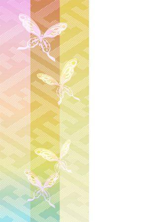 年賀状の背景イラスト|透かし蝶2