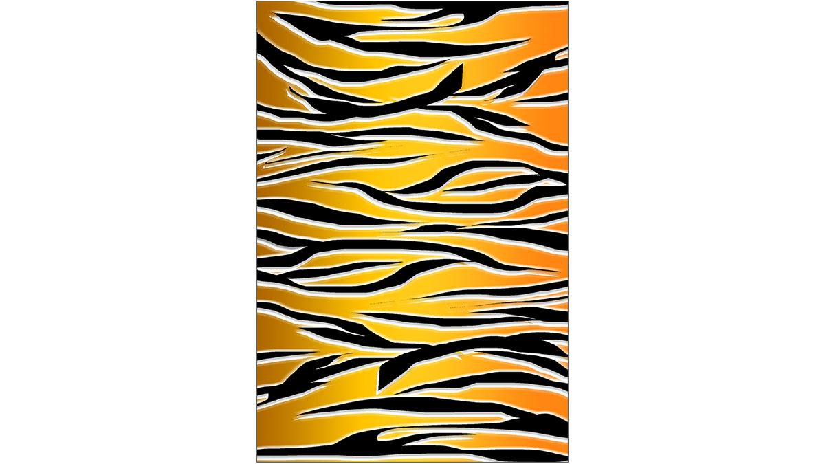 虎柄の背景イラスト