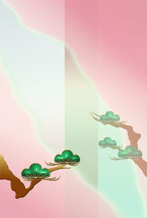 年賀状の背景イラスト|松枝1
