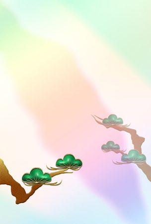 年賀状の背景イラスト|松枝2