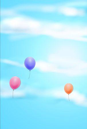 年賀状の背景イラスト|晴れた空1