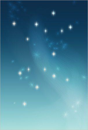 年賀状の背景イラスト|星の瞬く夜空1