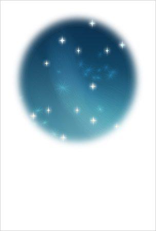 年賀状の背景イラスト|星の瞬く夜空2