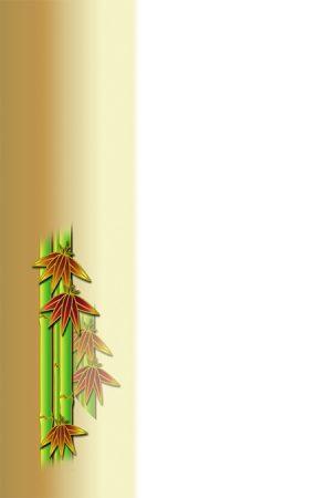 年賀状の背景イラスト|竹1