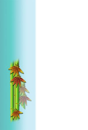 年賀状の背景イラスト|竹2