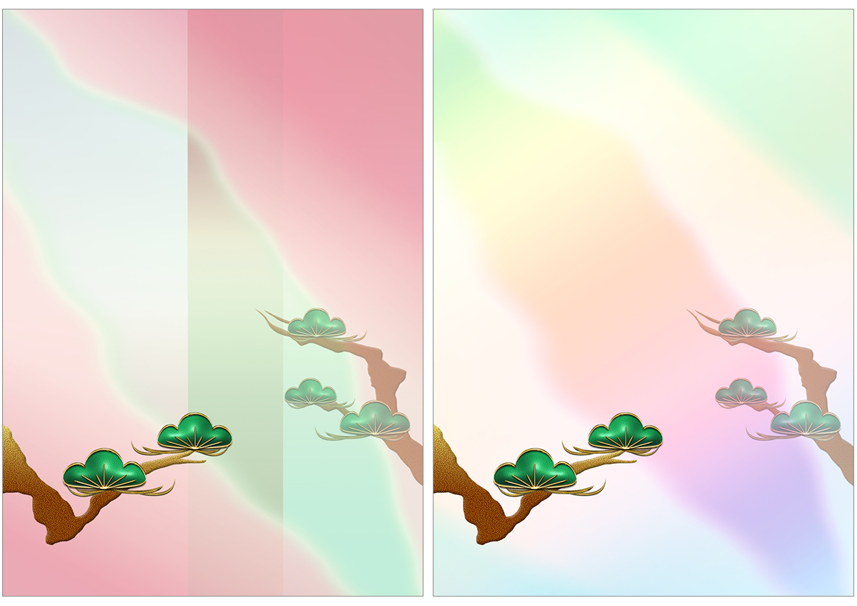 和風・松枝の背景のイラスト
