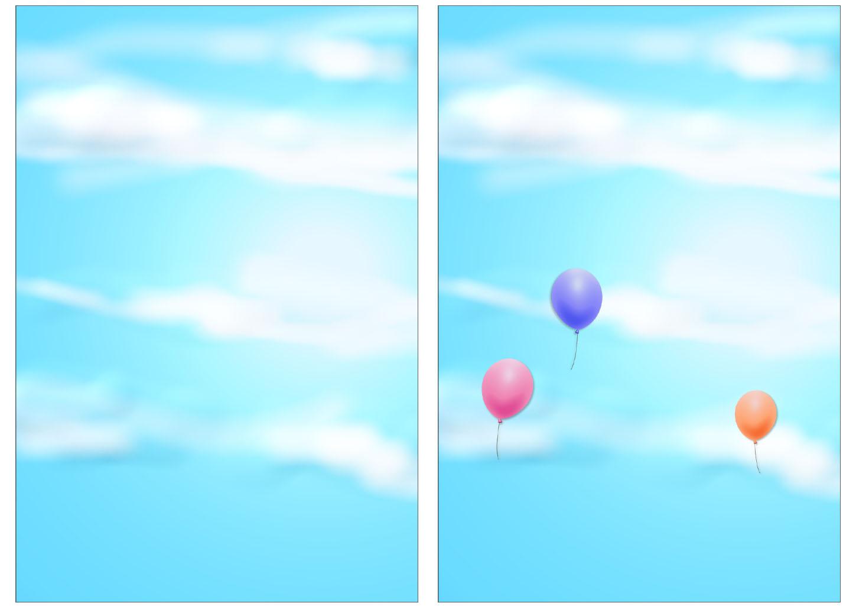 元旦の晴れた空の背景のイラスト
