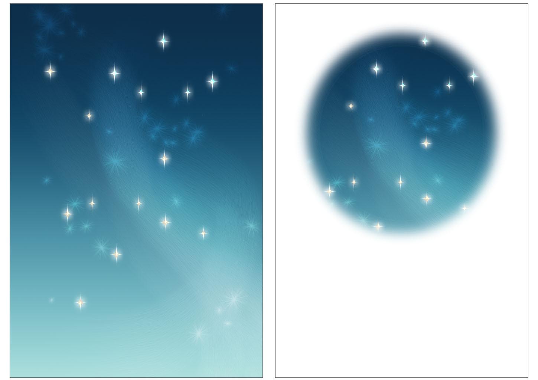 new yearの星空の背景のイラスト