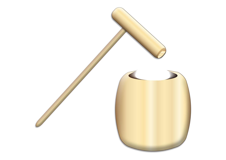 年賀状イラスト|餅つきの杵と臼