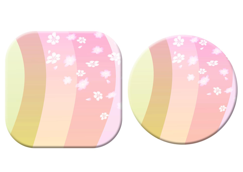 年賀状イラスト|桜の春色プレート