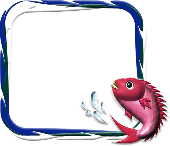 年賀状イラスト|鯛と波の飾り枠