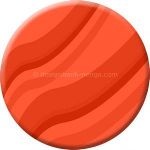 年賀状イラスト|波ストライプの円形プレート