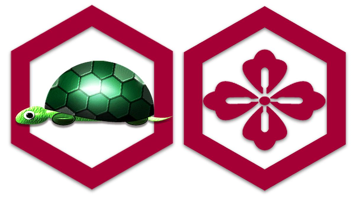 亀の甲羅の和模様