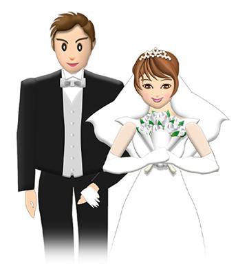 結婚報告の年賀状に使うツーショット写真イメージ