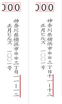 住所の数字を漢数字で書くときの注意点