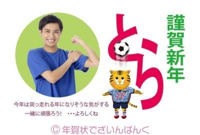 虎サッカーのシンプルなフォトフレーム