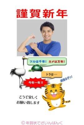 諺をアレンジした鶴・亀・虎のフォトフレーム