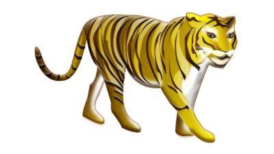 ベーシックな虎の年賀状イラスト