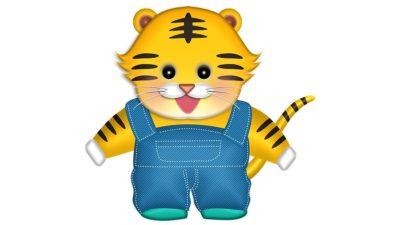 かわいい虎の男の子の年賀状イラスト