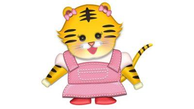 かわいい虎の女の子の年賀状イラスト