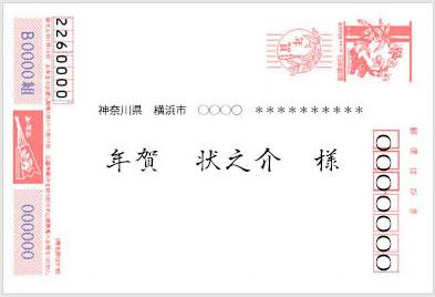 横向きの年賀状の横書きの宛名